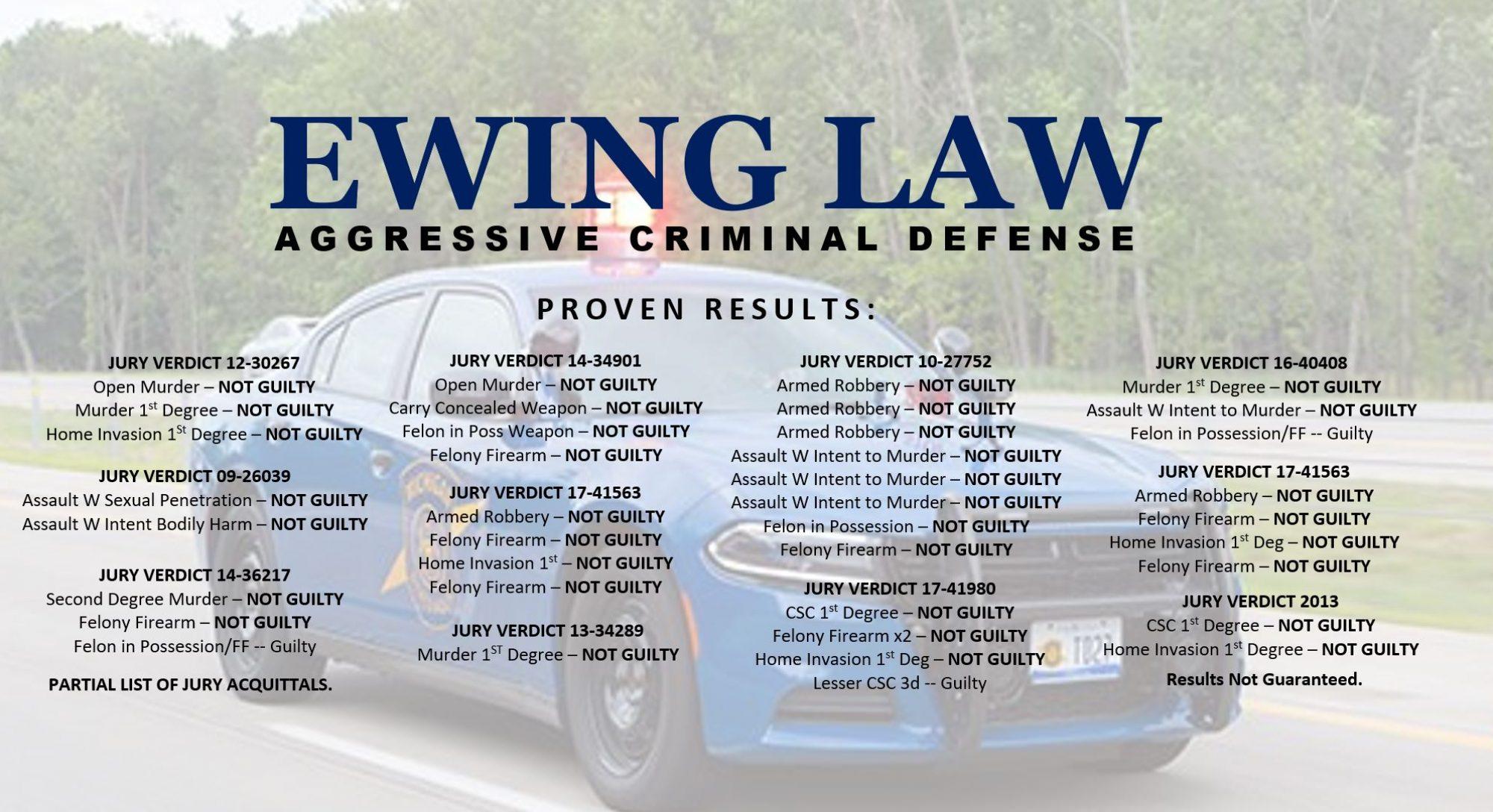 EWING LAW CRIMINAL DEFENSE